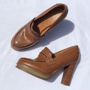 Veronique Branquinho Platform Leather Loafer 9
